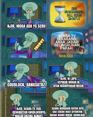 Meme SpongeBob Cerita