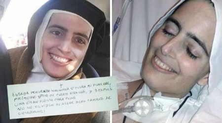 Touching Photos of Rev. Sister Dying with a Smiling Face Leaves Everyone in Tears
