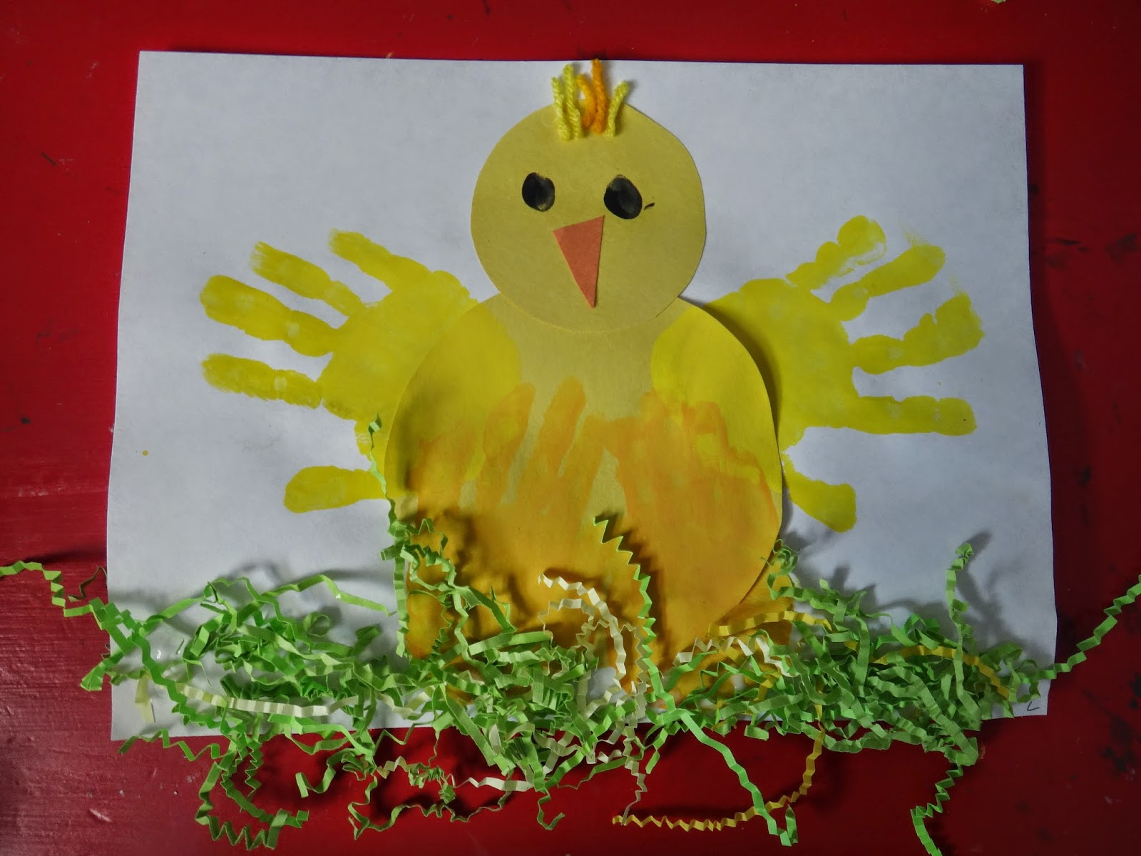 Little Stars Learning Chicks Hand Print Preschool Easter Craft
