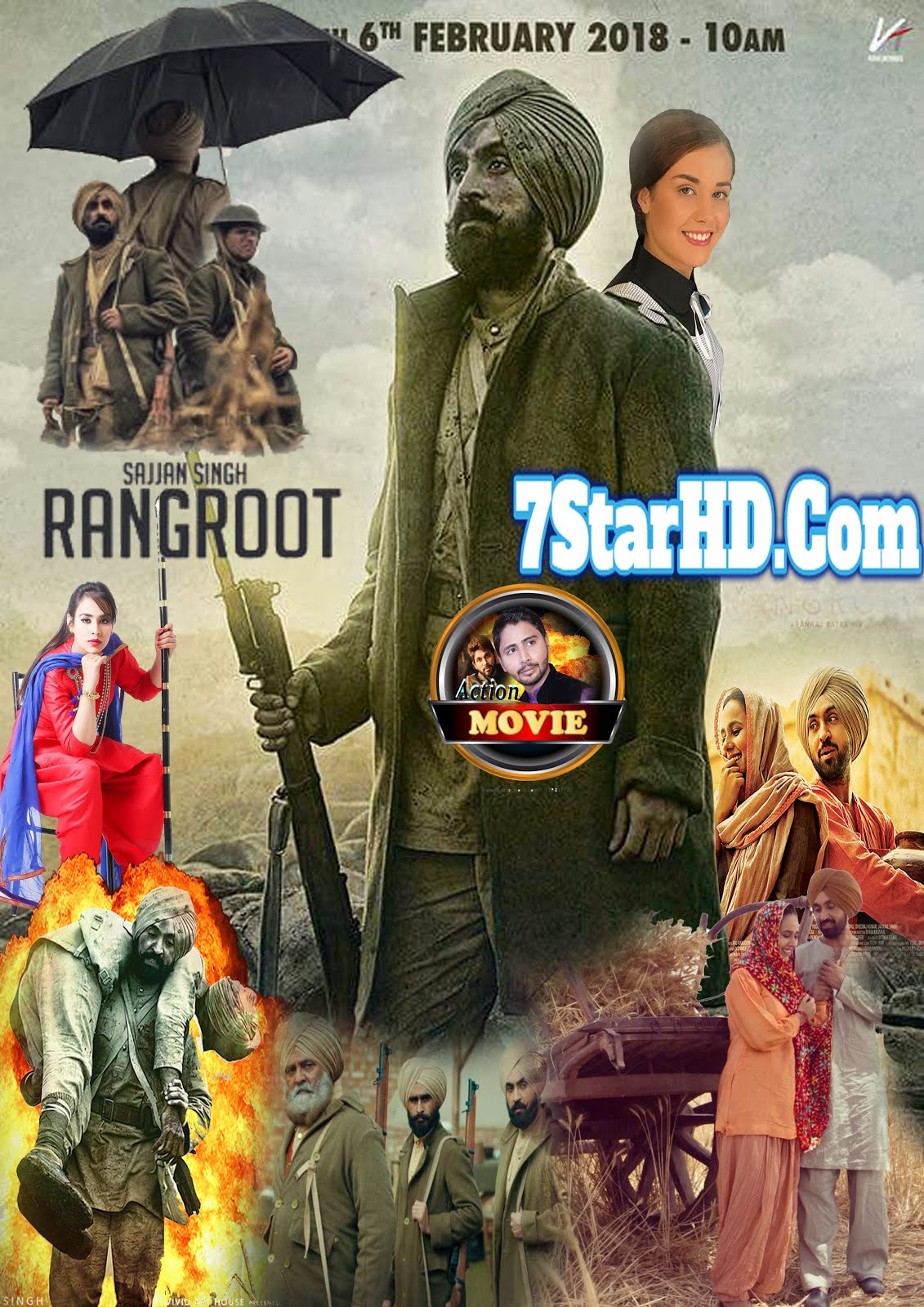 Sajjan Singh Rangroot 2018 Punjabi Pre-DVDRip 700MB x264