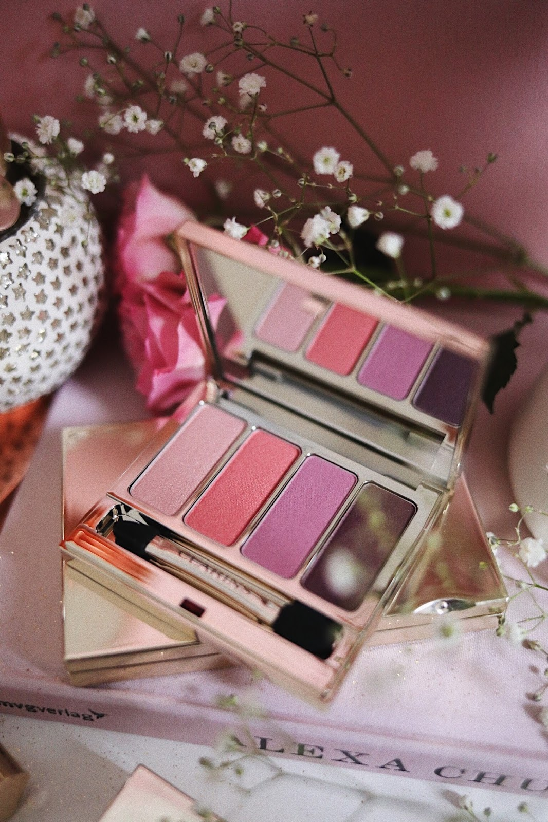 CLARINS , CLARINSFR , CLARINS FRANCE , CLARINS ACADEMIE , PRINTEMPS 2018 , PALETTE 4 COULEURS , LOVELY ROSE , 07 , rose mademoiselle , rosemademoiselle , revue , avis , Swatch