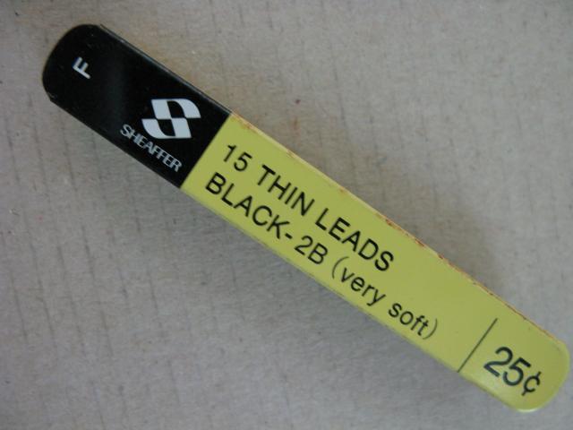Sheaffer Long Thin 0.9mm Pencil Lead--Soft=B---plastic contanier