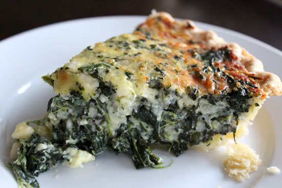 Spinach Feta Mozzarella Quiche
