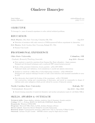 resume one page pdf template oindree banerjee how to phd