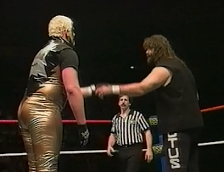 WWE / WWF Mayhem in Manchester 1998 - Goldust faced Cactus Jack