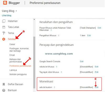 Cara Mengaktifkan Ads.txt Adsense di Blogger
