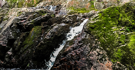 The lower cascade of Morgan Falls at St. Peter's Dome State Natural Area