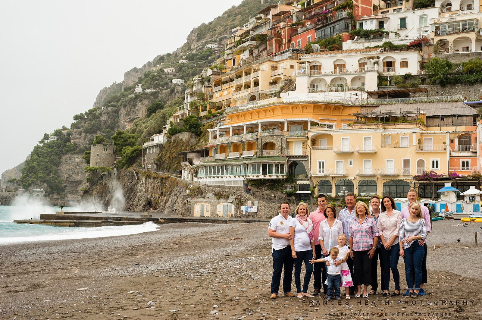 Family portrait in Positano