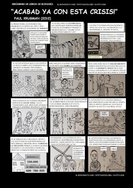 """""""Acabad ya con esta crisis!"""" (Paul Krugman, 2012)  / Resumen y cómic de E. V. Pita (2018)"""