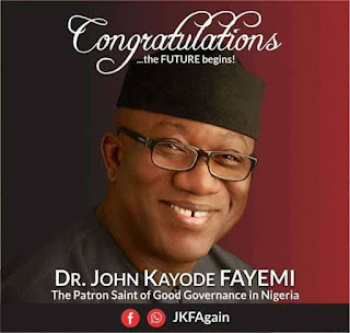 APC Congratulates Dr. Kayode Fayemi On Ekiti Governorship Election Victory