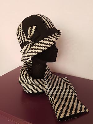 Patouche Chapeaux, cloche rétro, feutre de laine et tissu made in France