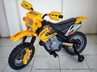 Motor Mainan Aki DoesToys DT410 MotoCross Yellow