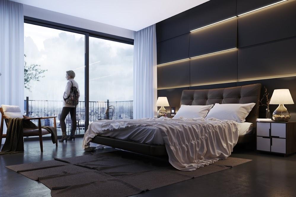 LED-light-striped-bedroom-unique-accent-walls