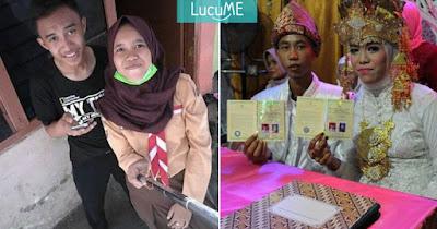 Pasangan Remaja Usia 15 Tahun Ini Sudah Menikah, Netizen Heboh
