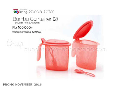 Bumbu Container Promo Tupperware November 2016