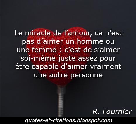 citation miracle de l'amour