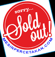 mesin percetakan SOLD OUT
