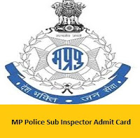 MP Police Sub Inspector Admit Card