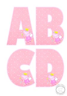 abecedario de peppa pig