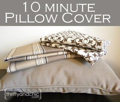 10分钟'sew' easy pillow cover