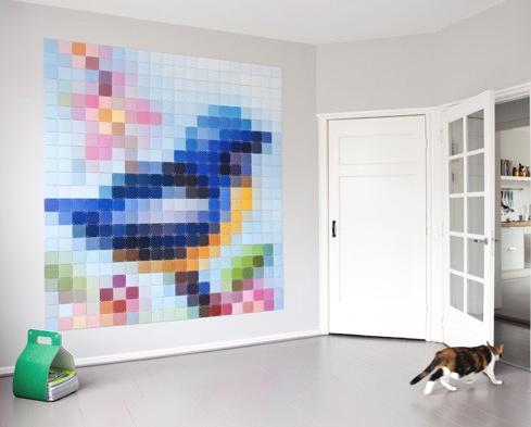 un tableau pixel by ixxi. Black Bedroom Furniture Sets. Home Design Ideas
