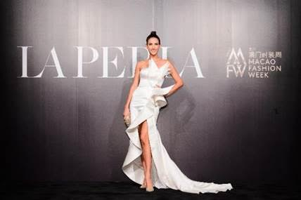 Beauty queen, model, actress and host of 'Asia's Next Top Model' Cindy Bishop at La Perla's new Spring/Summer 2018 fashion show.