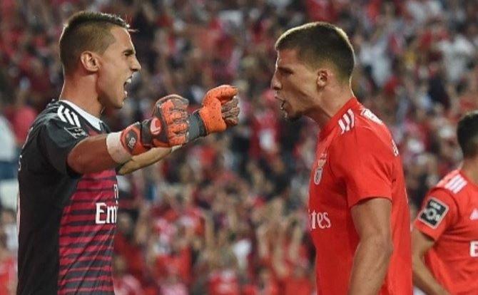 Benfica Rúben Dias e Odysseas
