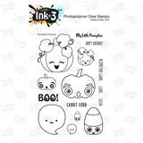 IO3 Pumpkin Friends 4x6 Clear Stamp Set