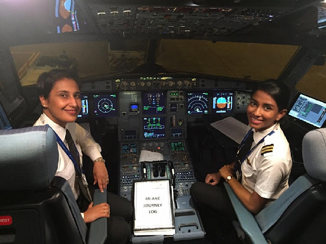International Women's Day All female crew flight: UL 306