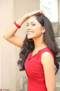 Mounika Telugu Actress in Red Sleeveless Dress Black Boots Spicy Pics 069.JPG