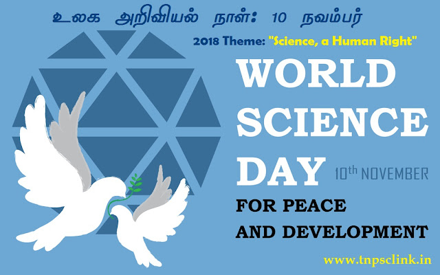 World Science Day for Peace and Development 10 November 2018