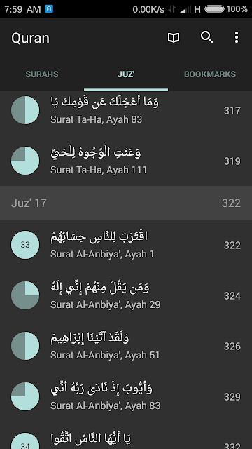 Quran Android APK - Pilih Juz