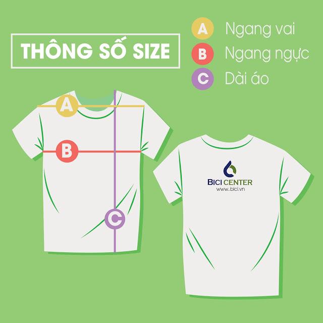 Thông số size áo thun