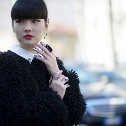 秋元梢 @akimoto_kozue during fashion week