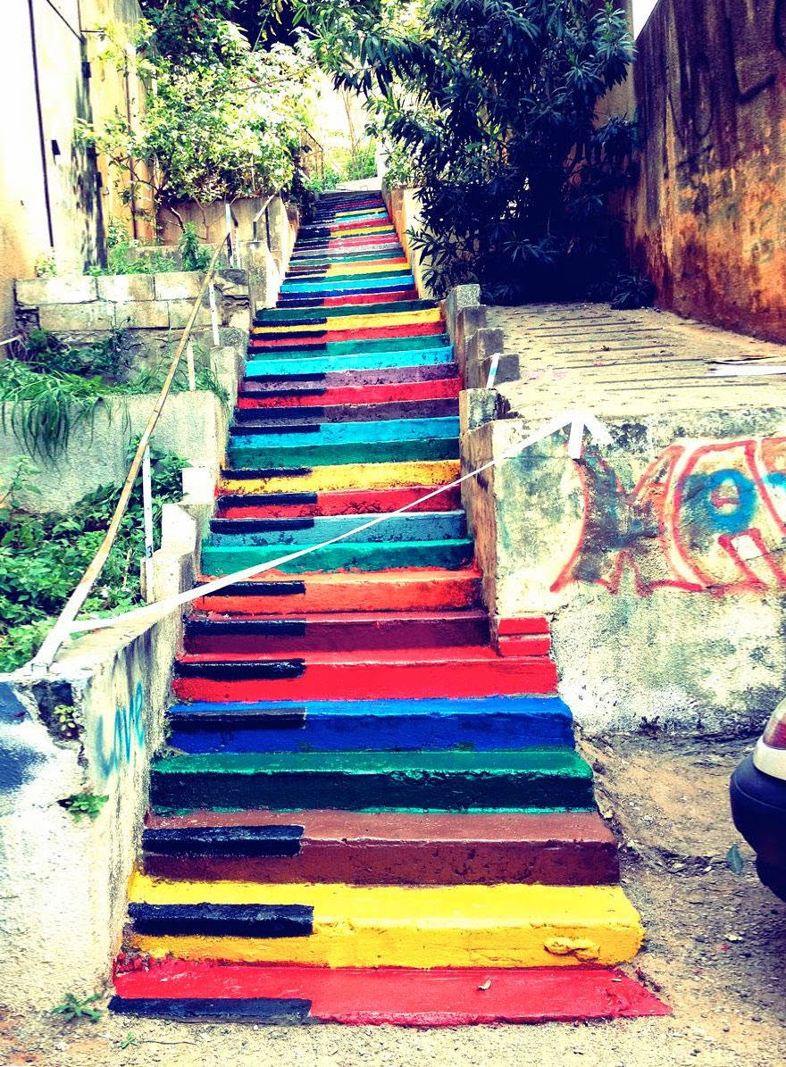 9. Beirut, Lebanon - 17 Beautifully Painted Stairs From All Over The World. #7 Is Insane!
