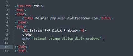 Mengenal Bahasa Pemrograman PHP