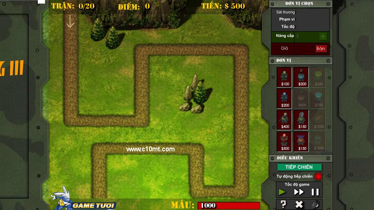 Game Flash Bảo Vệ Biên Cương 3 Offline