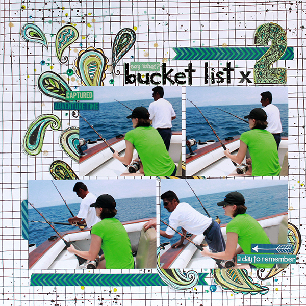 Bucket List x 2 Layout by Juliana Michaels
