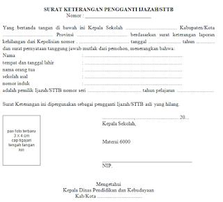 Format Administrasi Surat Dalam Ijazah Lengkap