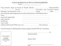 Contoh Format Administrasi Surat Dalam Ijazah Lengkap