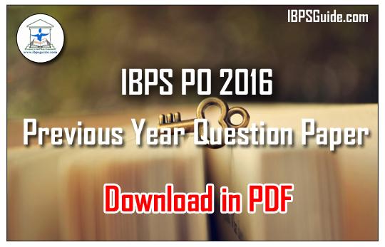 Ibps Po Pre Paper Pdf