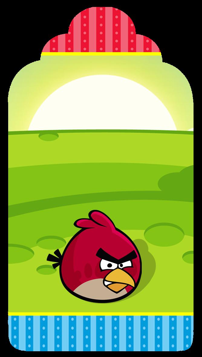 Para marcapáginas de Cumpleaños de Angry Birds.