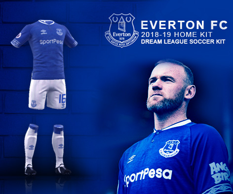 Everton FC 2018/19 Kit - Dream League Soccer Kits