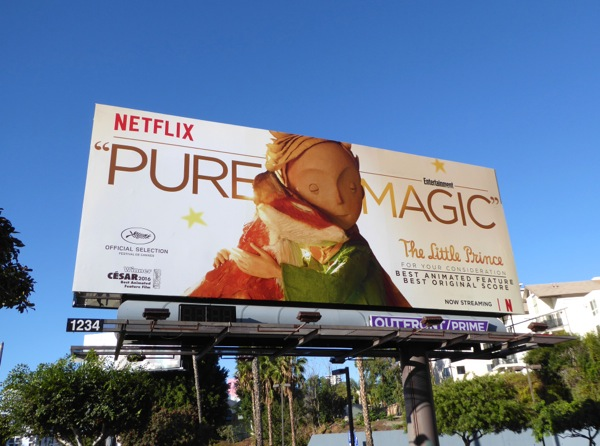 Little Prince Netflix movie consideration billboard