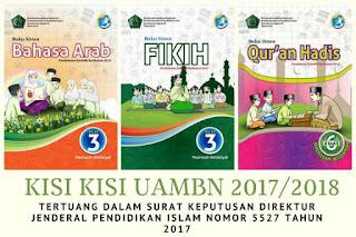 Kisi-Kisi UAMBN PAI dan Bahasa Arab TP 2017/2018