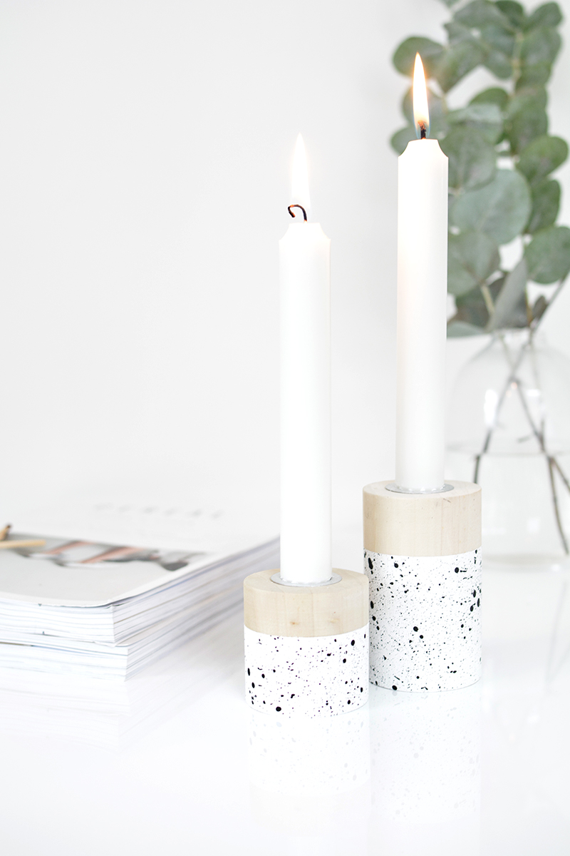 DIY wooden candle holder