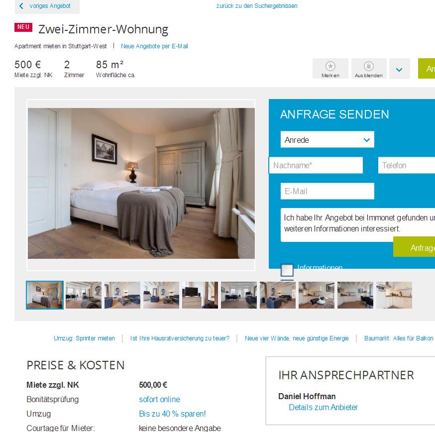 zwei zimmer wohnung. Black Bedroom Furniture Sets. Home Design Ideas