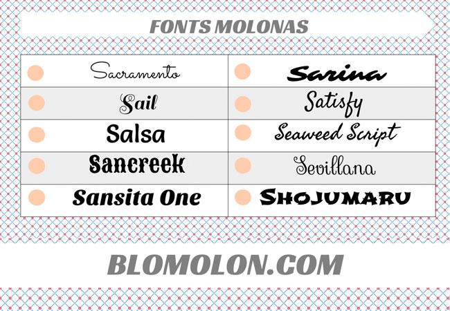 fonts molonas 14