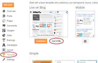 how to edit template in blogger