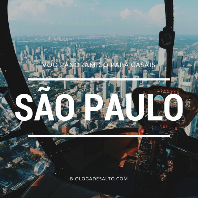 Voos panorâmicos em São Paulo para os casais
